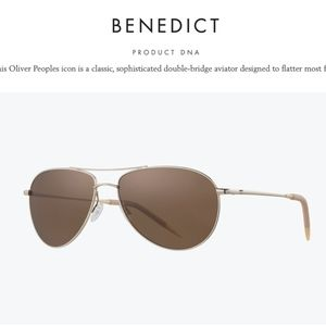 Oliver Peoples Men's Benedict OV1002 Sunglasses